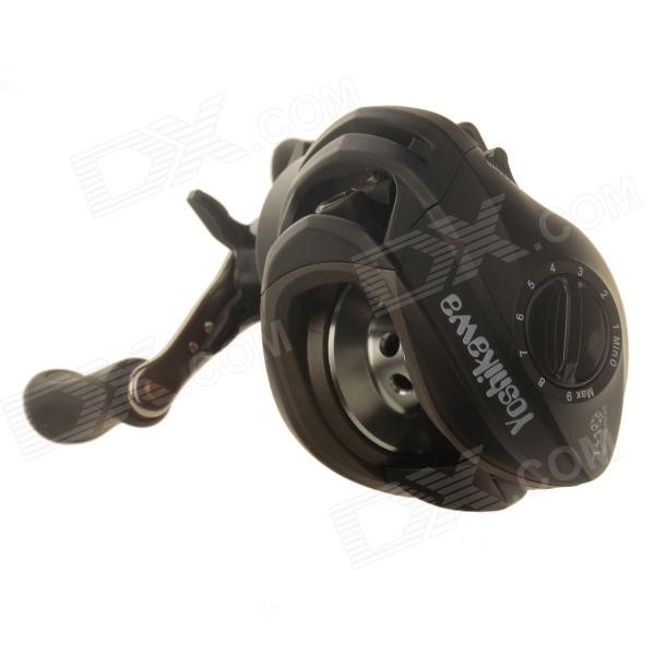 Yoshikawa 7 + 1 Bearing Left Hand Fishing Reel - Black + Silver