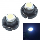 T4.7 0.3W 12lm SMD 5050 LED White Light Car Instrument Lamp - Black (DC 12V / 2 PCS)