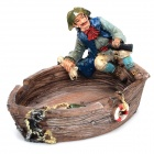 Mediterranean Pirate Style Resin Ashtray
