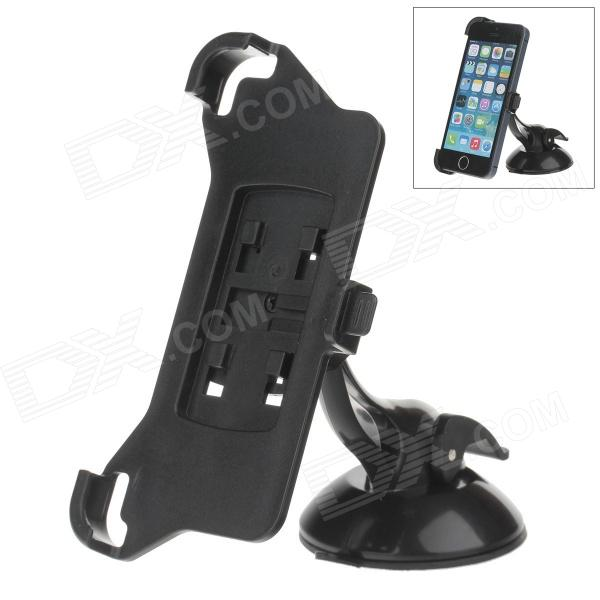 H60 360 Degree Rotation Holder Mount Bracket w/ Suction Cup for Iphone 5 / 5s - Black h08 360 rotation 4 port suction cup holder w silicone back clip for iphone 4 4s 5 ipad mini ipod