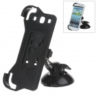 H60 360 Degree Rotation Holder Mount Bracket w/ Suction Cup for Samsung Galaxy S3 i9300 - Black