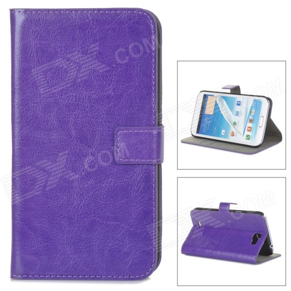 stylish pu leather sleeve pouch case for samsung galaxy note ii n7100 htc one x brown A-335 Stylish Flip-Open PU Leather Case w/ Stand for Samsung Galaxy Note 2 / N7100 - Purple