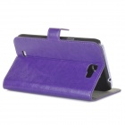A-335 Stylish Flip-Open PU Leather Case w/ Stand for Samsung Galaxy Note 2 / N7100 - Purple
