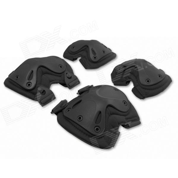 ESDY Outdoor Climbing Gear Tactical Knee And Elbow Pads Set - Black