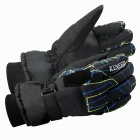 Fashionable Men's Riding Windproof And Warm Gloves - Black + Blue (L / Pair)
