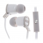 Sibyl V-2 Mega Bass In-Ear Earphones w/ Microphone - White + Grey (3.5mm Plug / 112cm-Cable)