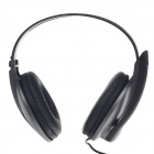 Microkingdom A4 USB Wired Stereo Headphones w/ Microphone / Wired Control- Black + Titanium + Silver