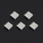 Jtron Aluminum Radiator / Chip Cooling Dedicated - Silver (1.4 x 1.4 x 0.6cm / 5 PCS)
