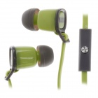 Sibyl V-2 Mega Bass In-Ear Earphones w/ Microphone - Green + Grey (3.5mm Plug / 112cm-Cable)