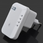 Portable 2.4GHz 802.11N 300Mbps Wireless Wi-Fi Repeater - White (EU Plug / AC 100~240V)