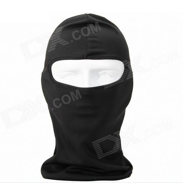 QNGLONIN Outdoor Cycling Wind Sun Protection Mask - Black protective outdoor war game military skull half face shield mask black