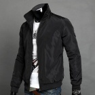 AOWO Stylish Men's Slim Jacket - Black (Size-XL)