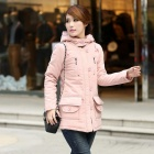 Yinafeiru Women's Casual Down Coat - Pink (Size-L)