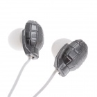 Sibyl Fashion Gun & Bomb Style Stereo In-ear Style Earphone - White + Grey + Bronze (3.5mm Plug )