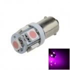 BA9S / W6W 1W 80lm 5 x SMD 5050 LED Purple Car Light Indicator / Instrument / Clearance Lamp - (12V)