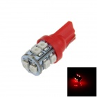 T10 / 194 / W5W 0.5W 90lm 10 x SMD 3528 LED Red Car Side Light / Indicator / Reading lamp - (12V)