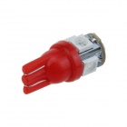 T10 / 194 / W5W 1W 100lm 5*SMD 5050 LED Red Car Lamp (12V)