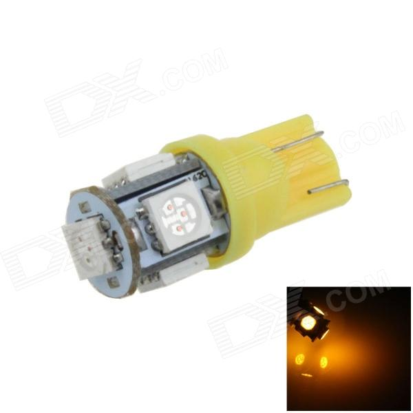цена на T10 / 194 / W5W 1W 100lm 5 x SMD 5050 LED Yellow Car Side Light / Instrument / Reading lamp - (12V)
