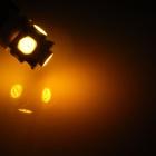 T10 / 194 / W5W 1W 100lm 5 x SMD 5050 LED Yellow Car Side Light / Instrument / Reading lamp - (12V)