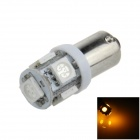 BA9S / W6W 1W 100lm 5 x SMD 5050 LED Yellow Car Light Indicator / Instrument / Clearance Lamp (12V)