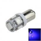 BA9S / W6W 1W 80lm 5 x 5050 SMD LED de luz azul de indicador del coche / Side Light / Clearance Lamp - (12V)