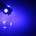 BA9S / W6W 1W 80lm 5 x SMD 5050 LED Blue Car Indicator Light / Side Light / Clearance Lamp - (12V)