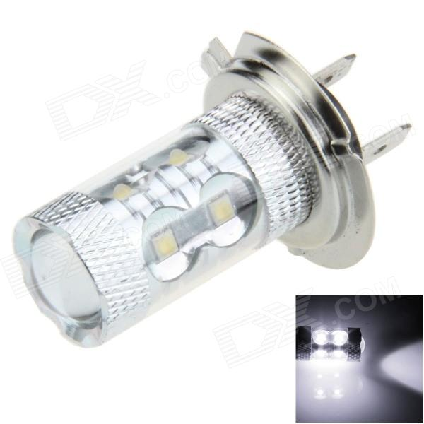 H7 50W 500lm 10-LED White Electrodeless Car Foglight / Headlamp - (12~24V) gc h8 30w 6 led 600lm 6000k white light car headlamp foglight w anti beam dc10 24v