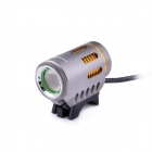 LusteFire P10 CREE XM-L2 T6 5-Mode 800LM White Dipped Beam Bike Light w/ Halo Effect - Grey + Golden