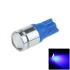 T10 / 194/168 / W5W 3W 200LM 1- Azul COB LED Car Light Side / Apuramento / Lâmpada de leitura - ( 12V)