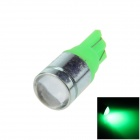 T10 / 194/168 / W5W 3W 140lm 1-COB LED Green Car Light Side / Apuramento / Lâmpada de leitura - (12V)