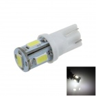 T10 / 194 / W5W 1W 100lm 5 x SMD 5630 LED White Car Side Light / Instrument / Reading lamp - (12V)