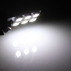 T10 / W5W 1.2W 100lm 6*SMD 5050 LED White Car Lamp (12V)