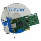 Winyao WY574T Intel WG82574L Chipset PCI-E X1 Server Gigabit Network Card Adapter - Green