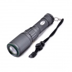 UltraFire HP-8 LED 3-Mode 700LM Rotatable Zooming Flashlight w/ Strap - Grey Black