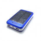 "JY-21 Solar Powered ""13800mAh"" External Battery Charger Power Source Bank - Blue + White"