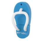 RYVAL Flip-Flops Style Water Resistant USB 2.0 Flash Drive - White + Blue (8GB)