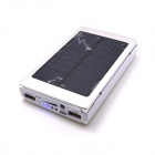 "Universal Dual USB ""13800mAh"" Solar Energy Powered Power Source - Silver + White"