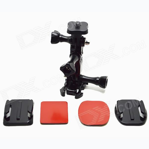 BZ100 Helmet Side Mount Accessory+ Tripod Mount Adapter for 1/4 Gopro hero 1 / 2 / 3 / 3+ / SJ4000Mounting Accessories<br>Form ColorBlackModelbz100MaterialPlastic+pcQuantity1 DX.PCM.Model.AttributeModel.UnitTypeMonopodRetractableNoScrew Size1/4+GoPro AdapterMax.Height6.5 DX.PCM.Model.AttributeModel.UnitMax.Load500 DX.PCM.Model.AttributeModel.UnitPacking List1 x Mini 1/4  stand1 x Short screw bolts2 x Long screw bolts1 x Activity mount1 x Short connection chain1 x Long connection chain2 x Fixed seat1 x Square adhesive1 x Ellipse glue<br>