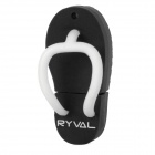 RYVAL Flip-Flops Style Water Resistant USB 2.0 Flash Drive - Black + White (8GB)