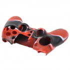 Protective Silicone Case for PS4 Controller - Black + Red