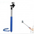 T-200L 6-Fold Retractable Handheld Monopod for GoPro Hero 1 / 2 / 3 / 3+ - Blue + Silver