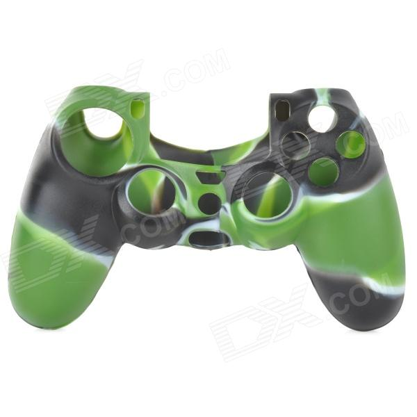 Protective Silicone Case for PS4 Controller - White + Green