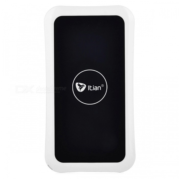 Itian K8-Qi Standard Mobile Wireless Power Charger - White itian k8 qi standard wireless charger receiving module for samsung galaxy s3 i9300 white