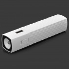 "E-DREAM SMART104 Portable ""2800mAh"" Power Bank w/ 1-LED Flashlight - White"