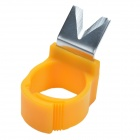 CHEERLINK Finger Ring w/ V Type Blade for Melon & Fruit Picking - Orange
