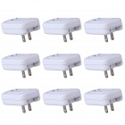 High Quality Universal AC Power Charger Adapter w/ LED Indicator -White (110~220V / US Plug / 9 PCS)