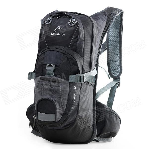 Emintribe 1602 Outdoor Travel / Cycling Backpack - Black + Grey (20L) favourite 1602 1f