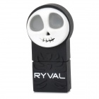RYVAL Ghost Style Water Resistant USB 2.0 Flash Drive - White + Black (8GB)