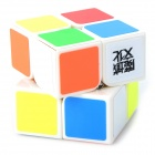 YJ Plastic Rubik's Cube Magic Cube Toy - White + Orange