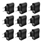 High Quality Universal AC Power Charger Adapter w/ LED Indicator -Black (110~240V / EU Plug / 9 PCS)